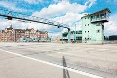 Langebro桥梁在哥本哈根 库存照片