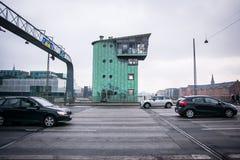 Langebro - long pont - pont central Ind Copenhague photographie stock