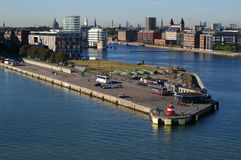 Langelinie Kanal in Kopenhagen Stockbilder