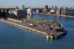 Langelinie port in Copenhagen stock images