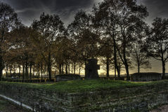 Langemark WWI Cemetery, Flanders Fields Stock Photos
