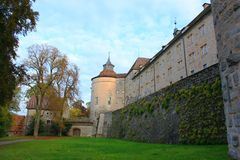 Langenburg Castle. In the Langenburg city, a old building from the old continent Royalty Free Stock Image