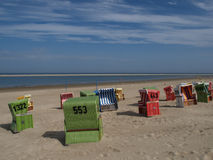 Langeoog beach Stock Photos