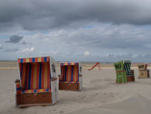 Langeoog. The beach of the german Island langeoog Stock Image