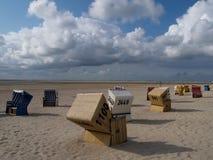 Langeoog. The beach of the german Island langeoog Stock Photo