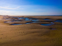Langeoog Beach Structure Royalty Free Stock Photo