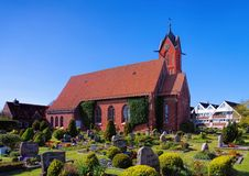 Langeoog church Royalty Free Stock Images
