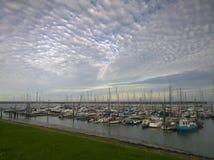 Langeoog-Hafen Stockbilder