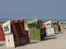 Langeoog plaża obraz royalty free