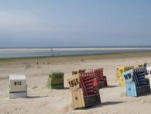 Langeoog plaża obrazy stock