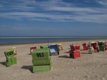 Langeoog plaża zdjęcia stock