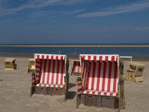 Langeoog plaża obrazy royalty free