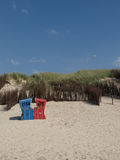 Langeoog plaża fotografia stock