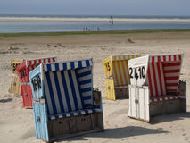 Langeoog strand Royaltyfri Fotografi