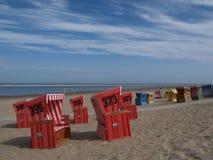 Langeoog strand Arkivfoto