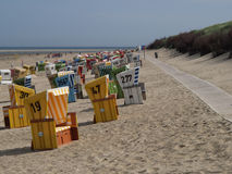 Langeoog strand Fotografering för Bildbyråer