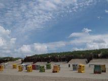 Langeoog strand Arkivfoton