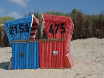 Langeoog strand Royaltyfria Bilder