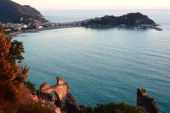 Langer Berührungsschuß Sestri Levante Camogli, Italien Lizenzfreie Stockfotografie