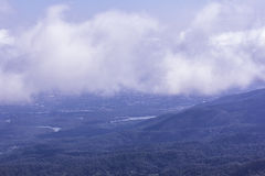 Langer Berg Ansicht chiangmai Stadtform-Montages Lizenzfreies Stockbild