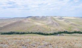 Langer Berg, Ansicht von oben Orenburg-Region Russland Stockfotografie