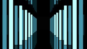 Langer dunkler Korridor mit Blinkenlampen lizenzfreie abbildung
