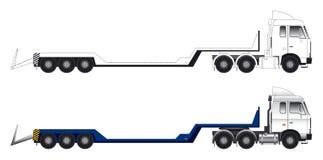 Langer Fahrzeugvektor der niedrigen Ladevorrichtung Stockbilder