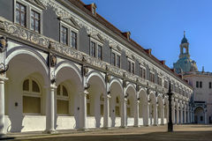 Langer Gang (long corridor), Dresden,Germany. Langer Gang (long corridor) is a long arcaded open structure, Dresden,Germany. It was constructed in 16th century Stock Images