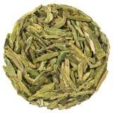 Langer Jin Green Tea in der runden Form Lizenzfreies Stockbild