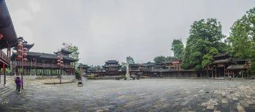 Langer Korridor alte Stadt Dorfs Chinas Songtao Miao Nationality Autonomous County Miao Stockbilder