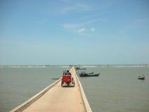 Langer Pier in Vietnam stockbilder