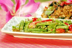 Langer Salat der Bohne (Tua Fak Yaow) stockbild
