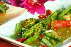 Langer Salat der Bohne (Tua Fak Yaow) stockfoto
