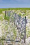 Langer Sand-Zaun Stockfotografie