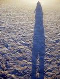 Langer Schatten stockbild