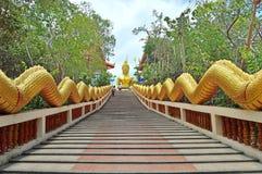 Langer Schritt zu Buddha lizenzfreie stockbilder