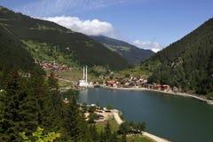 Langer See (Uzungol) lizenzfreies stockfoto