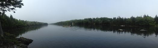 Langer Teich panoramisch Stockfotografie