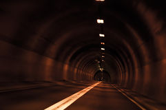 Langer Tunnel Stockfoto