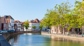 Langerei Canal, Bruges, Brugge, Belgium Royalty Free Stock Photos