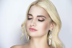 Langes blondes Haar Lizenzfreie Stockbilder