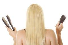Langes blondes Haar Lizenzfreies Stockbild
