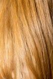 Langes blondes Haar als Hintergrund Stockbilder