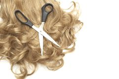Langes blondes Menschenhaar Lizenzfreie Stockfotografie