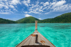 Langes Boot am Nationalpark surin Insel Lizenzfreies Stockfoto