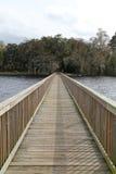Langes Dock auf dem St Johns River Lizenzfreie Stockbilder