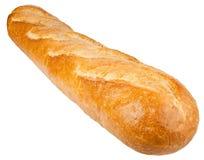 Langes Laib Französisches Brot lokalisiert auf dem weißen Hintergrund Lizenzfreie Stockfotos
