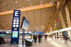 Langes Wasser internationalen Flughafens Kunmings Stockfotos