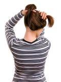 Langes weibliches Haar lizenzfreies stockbild