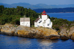 Langesund lighthouse, Norway Stock Photo